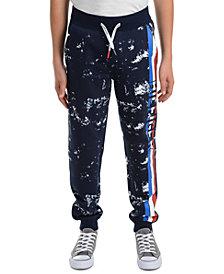 Tommy Hilfiger Big Boys Courtney Splatter-Print Fleece Sweatpants