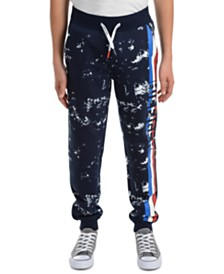 Tommy Hilfiger Big Boys Courtney Splatter-Print Fleece Sweatpants