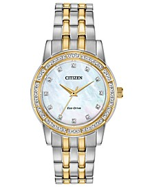 Eco-Drive Women's Silhouette Two-Tone Stainless Steel Bracelet Watch 31mm