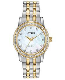 Eco-Drive Women's Silhouette Two-Tone Stainless Steel Bracelet Watch 31mm
