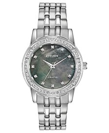 Citizen Eco-Drive Women's Silhouette Stainless Steel Bracelet Watch 31mm