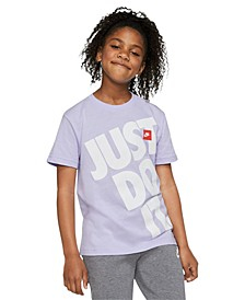 Big Girls Cotton Just Do It Boyfriend T-Shirt