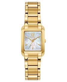 Citizen Eco-Drive Women's Bianca Gold-Tone Stainless Steel Bracelet Watch 22mm