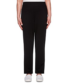 Classics Proportioned Ponte Knit Pull-On Pants, Medium & Short