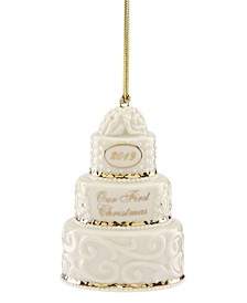 2019 Our 1st Christmas Together Cake Ornament