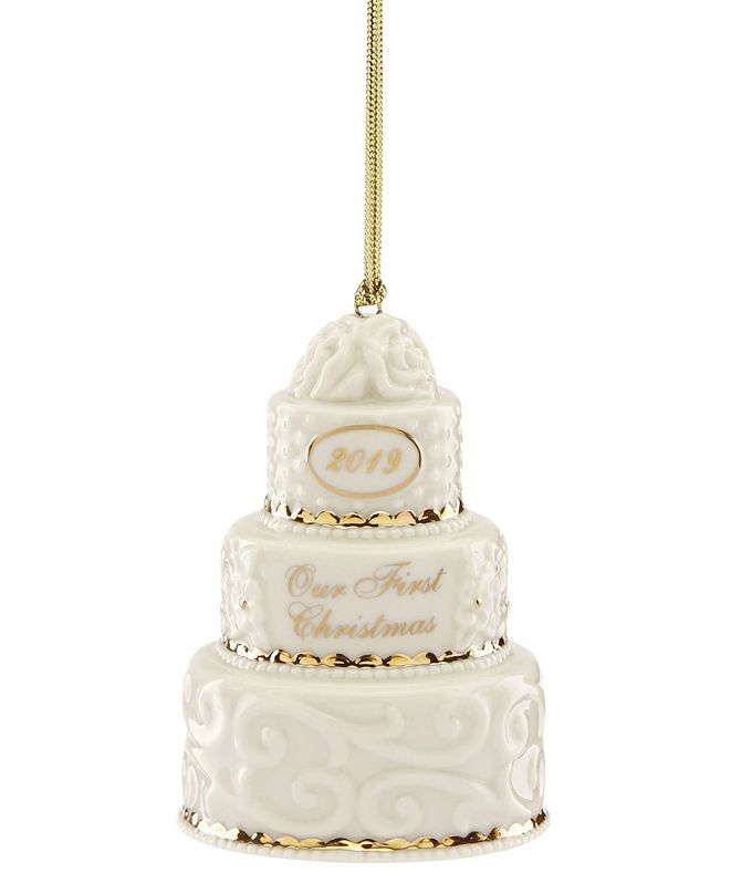 Lenox 2019 Our 1st Christmas Together Cake Ornament