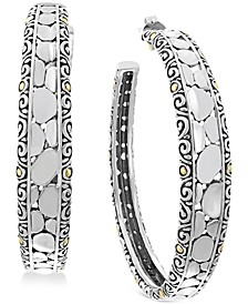 EFFY® Crackle Hoop Earrings in Sterling Silver & 18k Gold