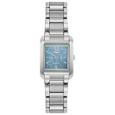 Eco-Drive Women's Bianca Stainless Steel Bracelet Watch 22mm