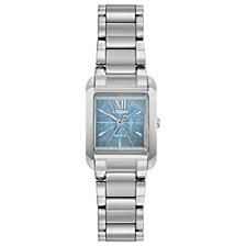 Eco-Drive Women's Bianca Stainless Steel Bracelet Watch 22mm