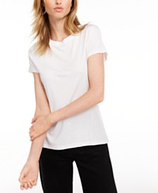Maison Jules Tie-Back T-Shirt, Created for Macy's