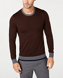 Tasso Elba Men's Merino Wool Blend Sweater, Created for Macy's