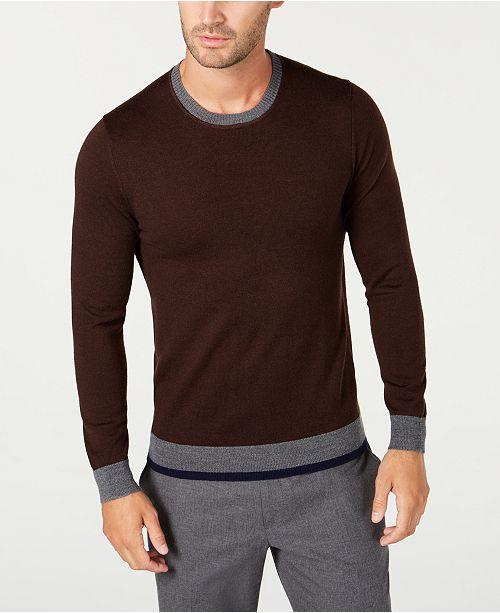Tasso Elba Men's Merino Wool Blend Sweater, Created for Macy's