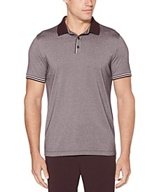 Men's Big & Tall Regular-Fit Moisture-Wicking Fine Stripe Polo Shirt