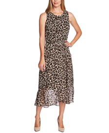 Vince Camuto Leopard-Print Maxi Dress