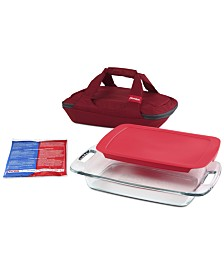 Pyrex Portables 4-Pc. Glass Dish & Bag Set