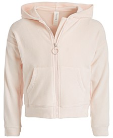 Little Girls Velour Zip-Up Hoodie, Created for Macy's