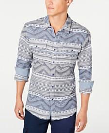 American Rag Men's Geometric Jacquard Shirt, Created for Macy's