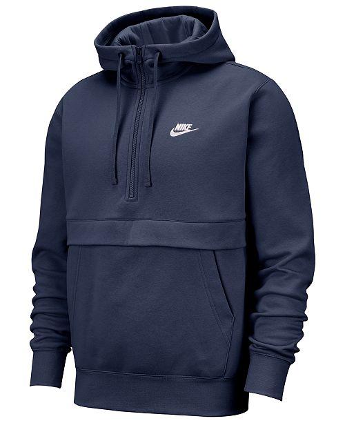 Men's Club Fleece Colorblocked Half Zip Hoodie