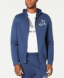 Men's Zip Front Logo Hoodie