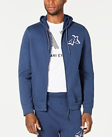A|X Armani Exchange Men's Zip Front Logo Hoodie