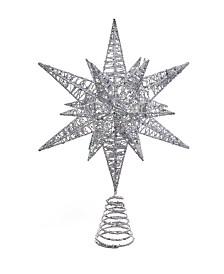 Kurt Adler 15.5 Inch Silver Multi Angle Star Treetop