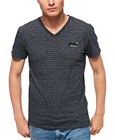 Superdry Men's Orange Label Vintage Embroidered Logo Graphic V-Neck T-Shirt