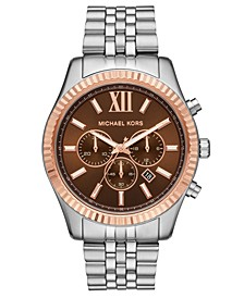 Men's Chronograph Lexington Two-Tone Stainless Steel Bracelet Watch 44mm