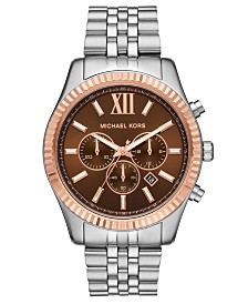 Michael Kors Men's Chronograph Lexington Two-Tone Stainless Steel Bracelet Watch 44mm