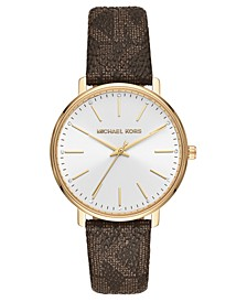 Women's Pyper Brown Logo Strap Watch 38mm