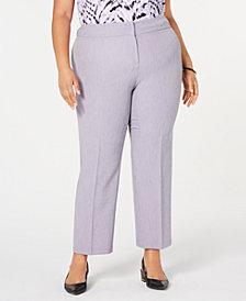 Kasper Plus Size Stretch Crepe Pants