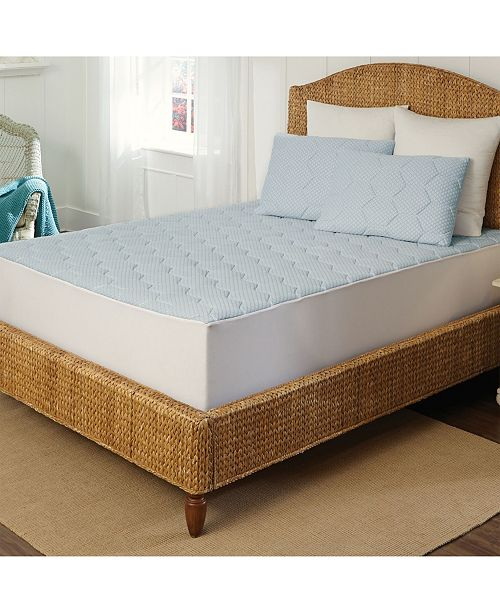 Rio Home Fashions Arctic Sleep Cooling Gel Memory Foam Mattress Pad - Full