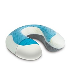 Arctic Sleep Cool-Gel Pad Memory Foam U-shaped Neck Support Pillow - One Size Fits All