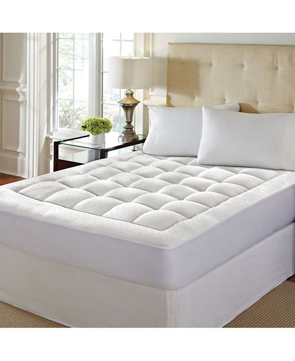 "Rio Home Fashions Pure Rest 1.5"" Washable Memory Foam Mattress Pad - Full"