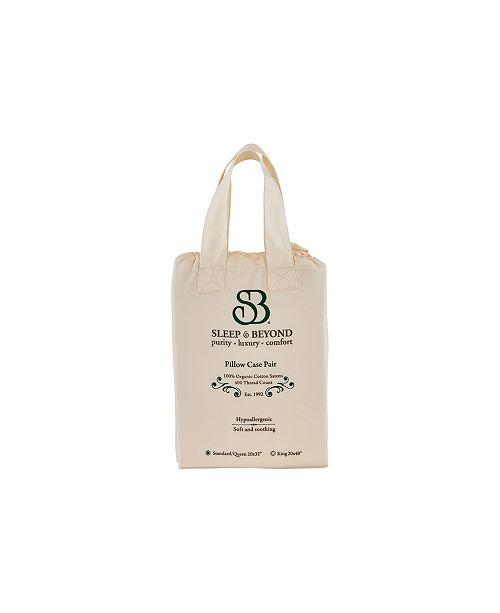 Sleep & Beyond Organic Cotton Pillow Case Pair, Standard/Queen