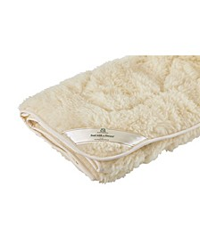 Mydual, Washable and Reversible Wool Mattress Pad, Queen
