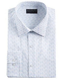AlfaTech by Alfani Men's Classic/Regular Fit Performance Stretch Abstract Cube Dress Shirt, Created for Macy's