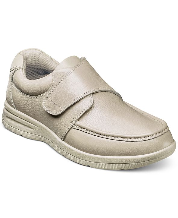Nunn Bush Men's Cam-Strap Moc-Toe Lightweight Loafers