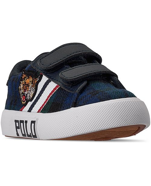 Polo Ralph Lauren Toddler Boys Edgewood EZ Stay-Put Closure Casual Sneakers from Finish Line