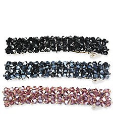 INC Silver-Tone 3-Pc. Set Sparkle Bead Hair Barrettes, Created for Macy's