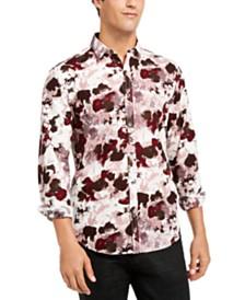 I.N.C. Men's Watercolor Print Shirt, Created for Macy's