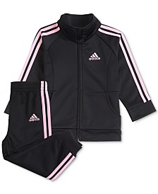 adidas Baby Girls 2-Pc. Tricot Jacket & Jogger Pants Set