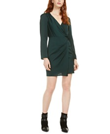 19 Cooper Twist-Front Fit & Flare Dress