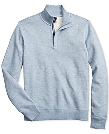 Brooks Brother's Men's Red Fleece Knit Quarter-Zip Sweater