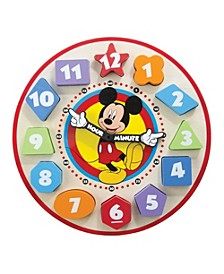 Mickey Mouse Wooden Shape Sorting Clock