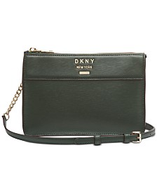 DKNY Ava Leather Top-Zip Crossbody, Created for Macy's