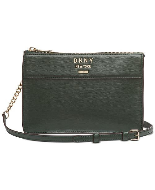 DKNY Ava Leather Top-Zip Crossbody, Created for Macy's