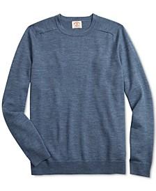 Men's Red Fleece Merino Wool Sweater