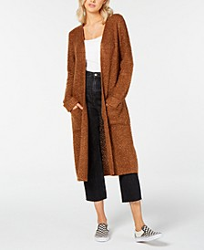 Juniors' Textured Duster Cardigan