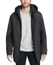 Men's All Man Micro Fiber Hooded Trench Jacket