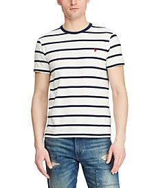 Men's Classic Fit Striped Cotton T-Shirt